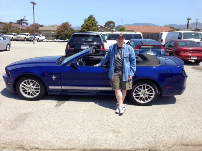 Me and my new car, taken outside the dealership, Half Moon Bay, CA