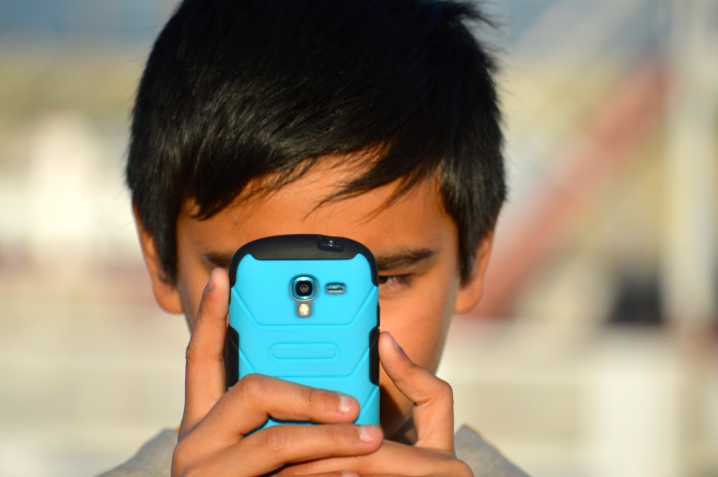 Taking a picture of Lil'B, taking a picture of me.