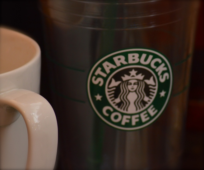 Green Starbucks Label